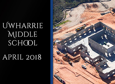 Uwharrie Middle School Contruction April