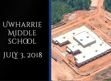 Uwharrie Middle School Contruction July