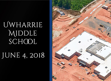 Uwharrie Middle School Contruction June